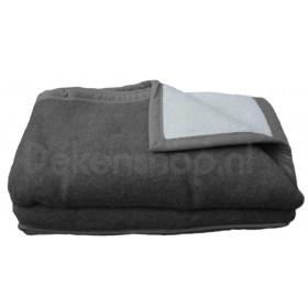 Good Night scheerwollen deken antraciet 600 gram