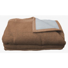 Good Night scheerwollen deken beige 730 gram per m2