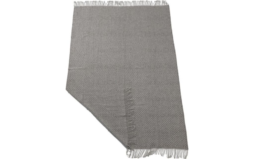 Aabe scheerwollen plaid Stockholm 640 grijs/wit