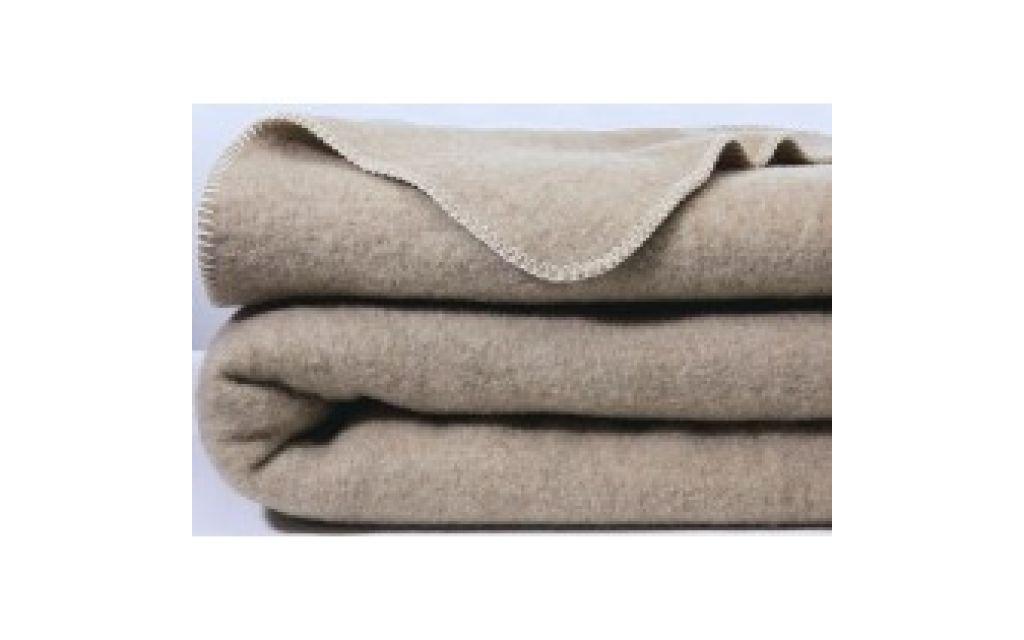Scheerwollen deken Dreamtime Eco beige 400 gr. 240x260