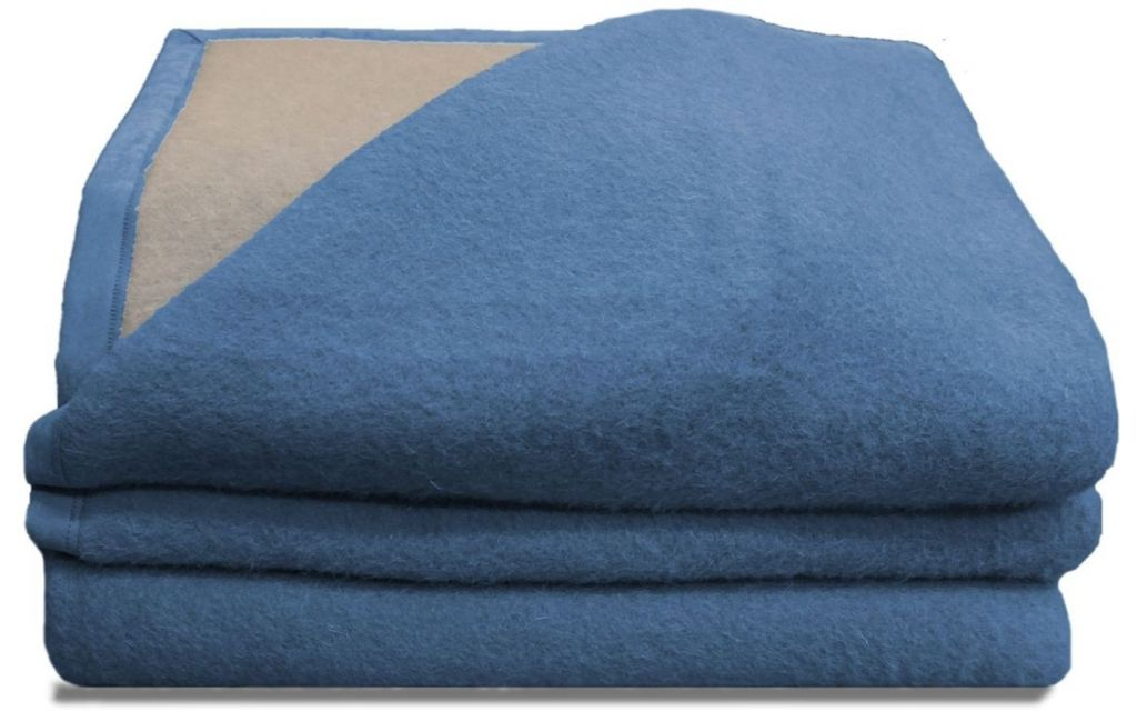 Seasons scheerwollen deken blauw 730 gram