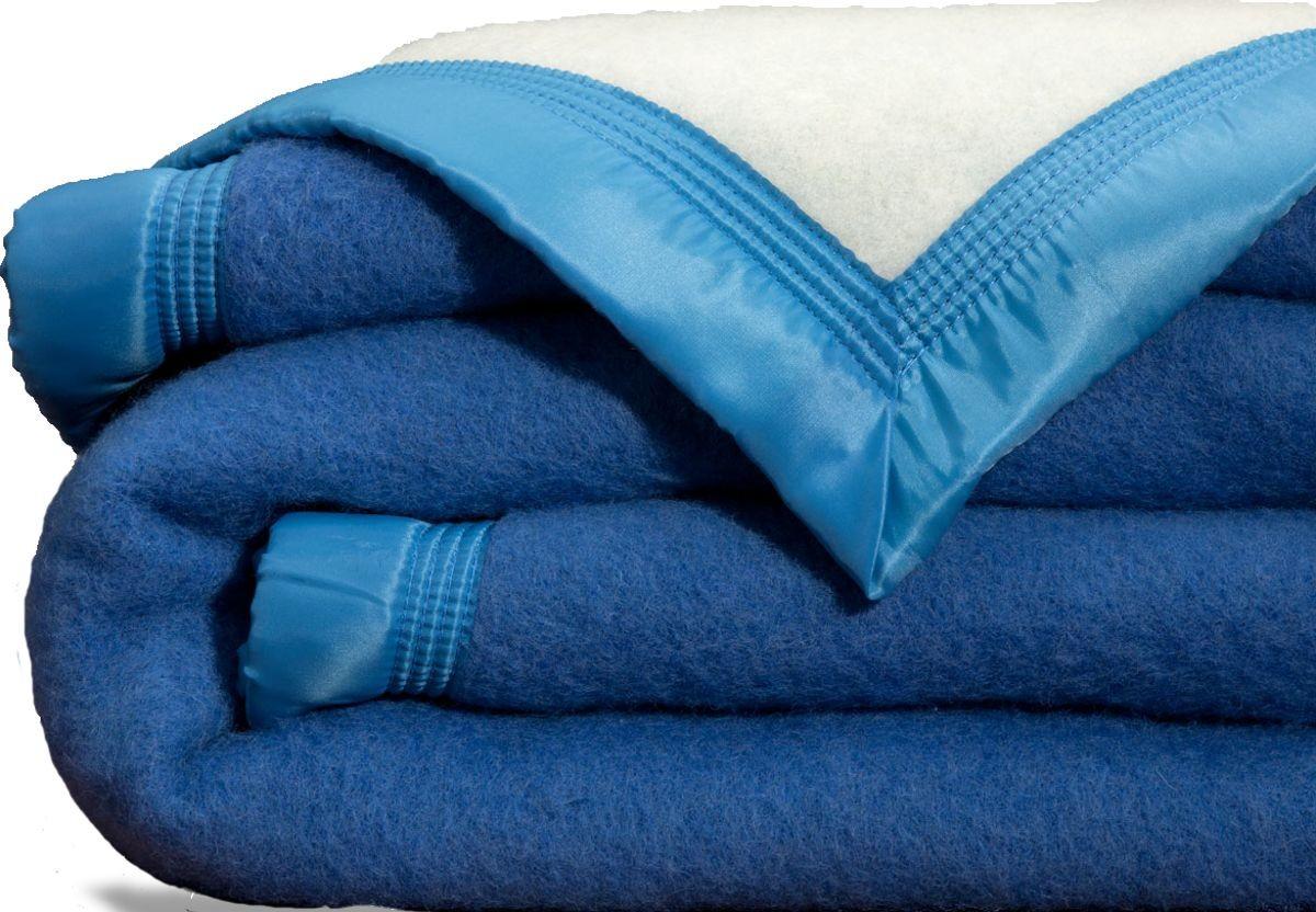 Scheerwollen deken Dreamtime blauw 730 gram