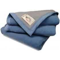 Aabe wollen deken Isola blauw