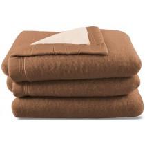 Scheerwollen deken Dreamtime beige/camel 600 gram