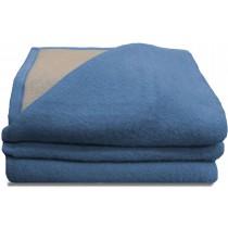 Luxery scheerwollen deken blauw 730 gram