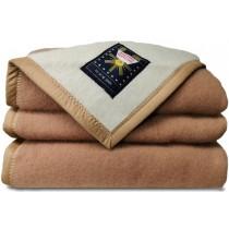 Sole Mio scheerwollen deken camel-ivoor