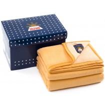 Sole Mio scheerwollen deken geel-mais