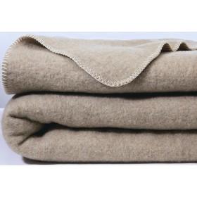 Scheerwollen deken Dreamtime Eco beige/grijs 400 gram