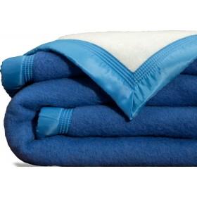 Scheerwollen deken Dreamtime blauw 500 gram