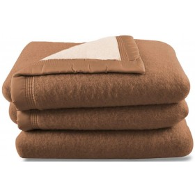 Scheerwollen deken Dreamtime beige/camel 500 gram