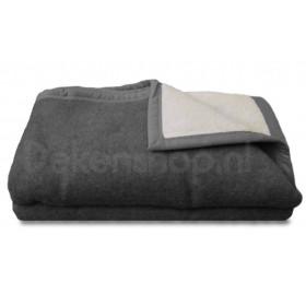 Good Night  scheerwollen deken antraciet 500 gr.