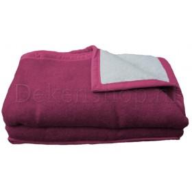 Seasons scheerwollen deken pioenrood 730 gram per m2