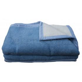 Seasons scheerwollen deken blauw 500 gram