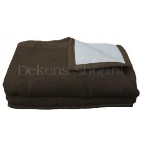 Seasons scheerwollen deken chocolat 730 gram m2