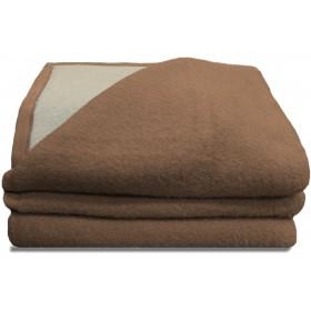 Luxery scheerwollen deken beige 500 gram per m2